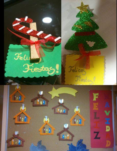 Llega la navidad a la residencia servisenior santiago - Decoracion navidena manualidades ...